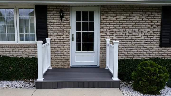 renovated front porch